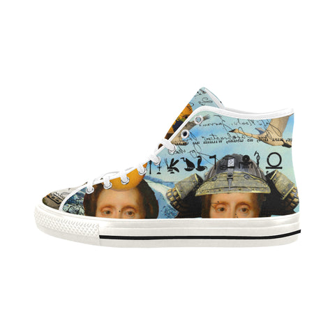 THE TWO TWINS IN BLUE AND YELLOW IV I Men's All Over Print Canvas Sneakers