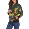 THE FLOWERS OF THE QUEEN All Over Print Bomber Jacket for Women