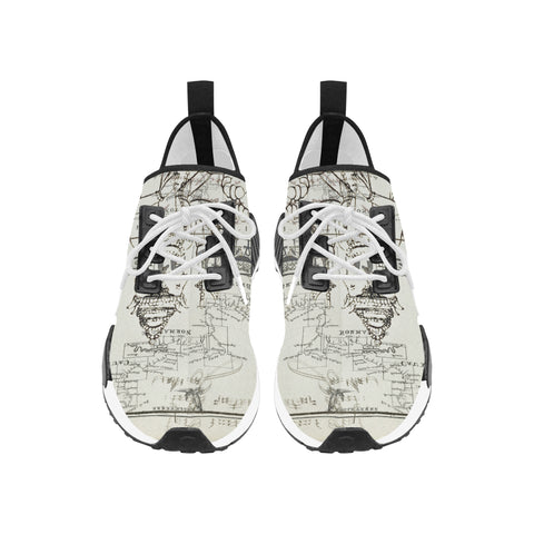 A MAP AND SOME ILLUSTRATIONS Men's All Over Print Running Shoes
