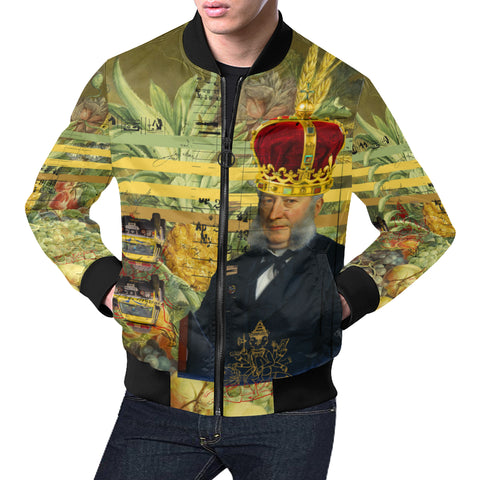 THE FOUR CROWNS All Over Print Bomber Jacket for Men