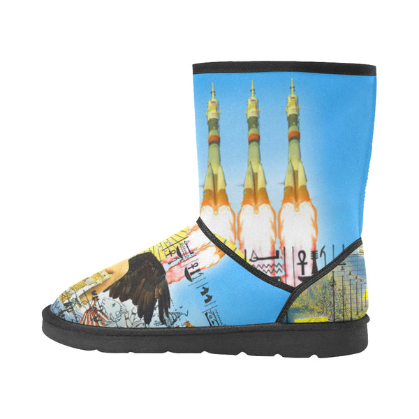 ROCKET GIRL II Unisex All Over Print Snow Boots