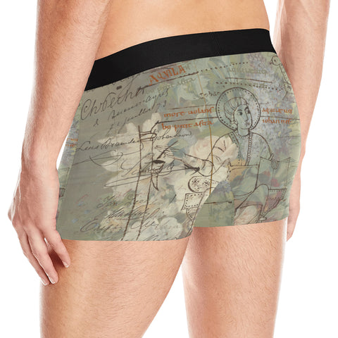 FLOWER PAINTING X MISC. ILLUSTRATIONS Men's All Over Print Boxer Briefs