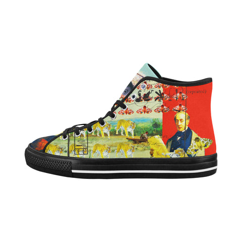 ACCORDING TO PLAN. Men's All Over Print Canvas Sneakers