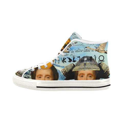 THE TWO TWINS IN BLUE AND YELLOW IV I Women's All Over Print Canvas Sneakers