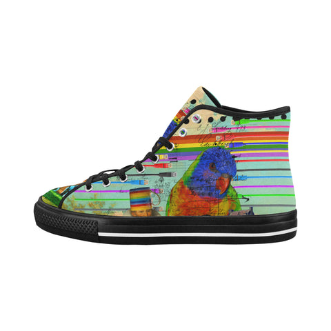 THE BIG PARROT Men's All Over Print Canvas Sneakers