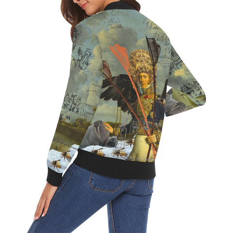 THE YOUNG KING ALT. 2 II All Over Print Bomber Jacket for Women