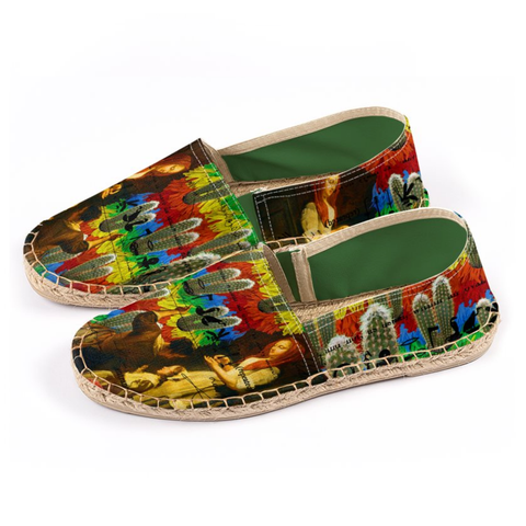 AND THIS, IS THE RAINBOW BRUSH CACTUS. II Unisex Espadrilles