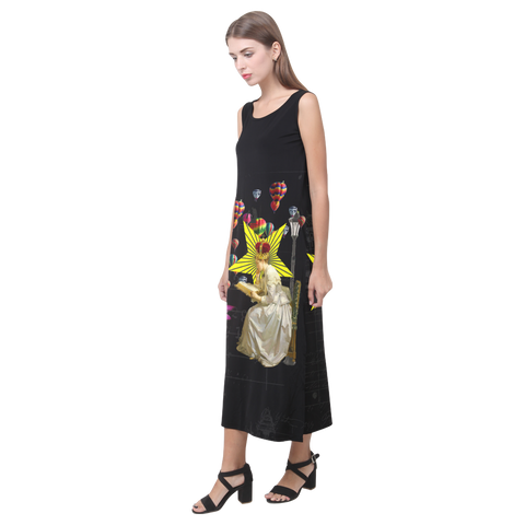 READING THE ANCIENT BOOK II Sleeveless Dress