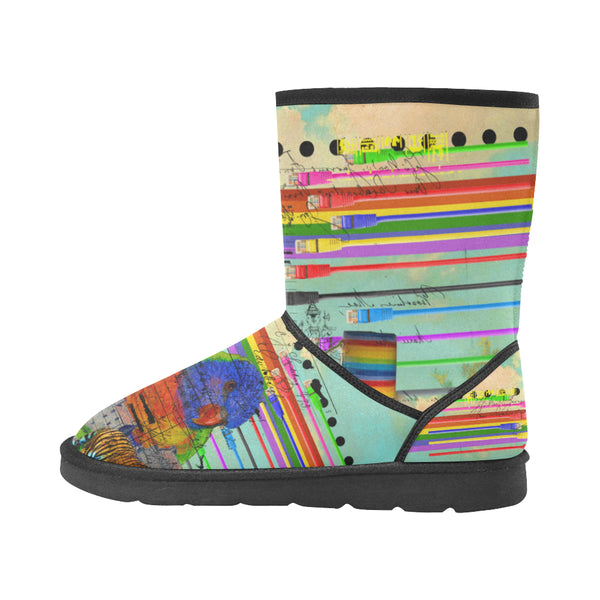 THE BIG PARROT Unisex All Over Print Snow Boots