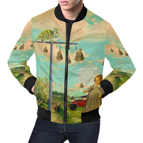 DANDELIONS All Over Print Bomber Jacket for Men