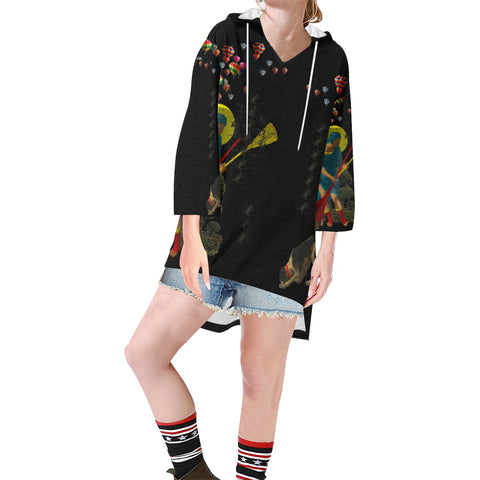 PASSING OUT THE BROOMS IV Unisex Step Hem Tunic Hoodie