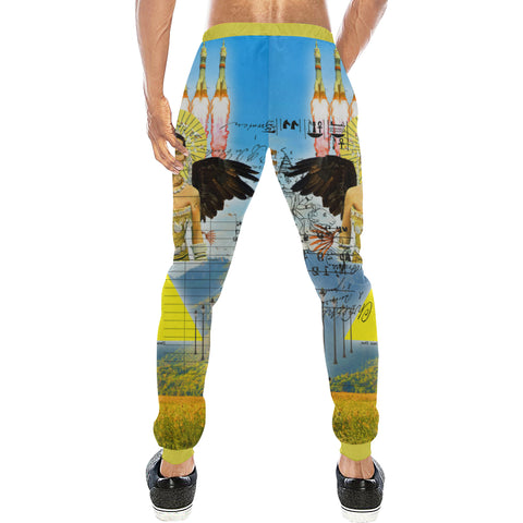 ROCKET GIRL II Men's All Over Print Sweatpants