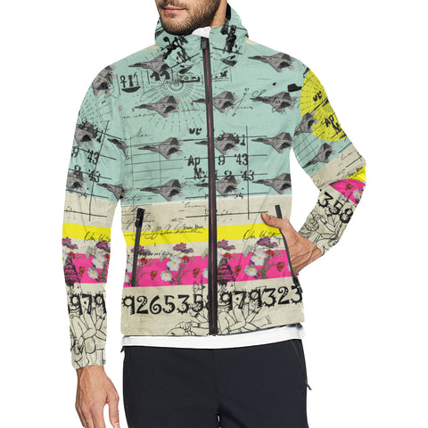 FLOWER POWER II All Over Print Windbreaker for Men