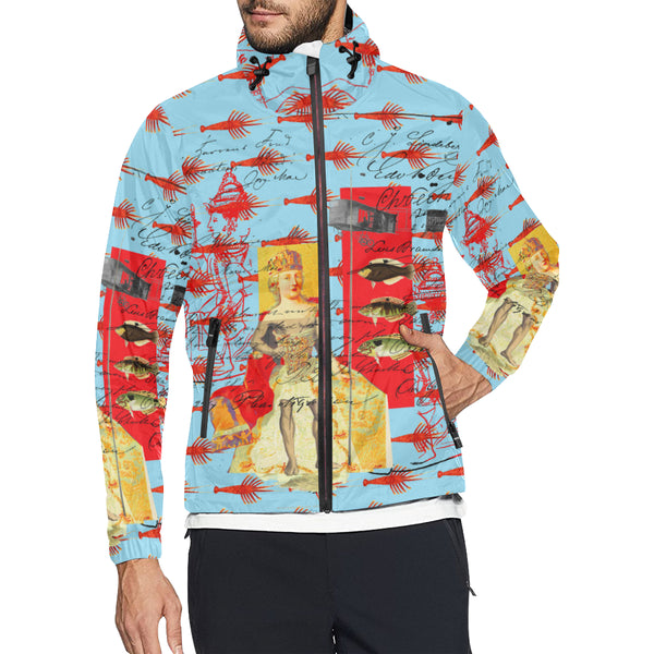 THE SHOWY PLANE HUNTER AND FISH IV All Over Print Windbreaker for Men