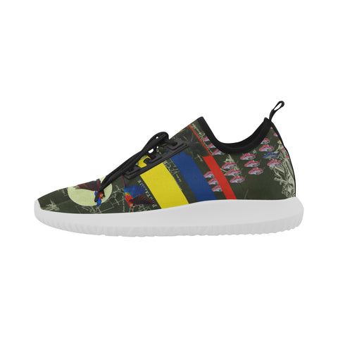 THE FLOWERS OF THE QUEEN Ultra Light All Over Print Running Shoes for Men