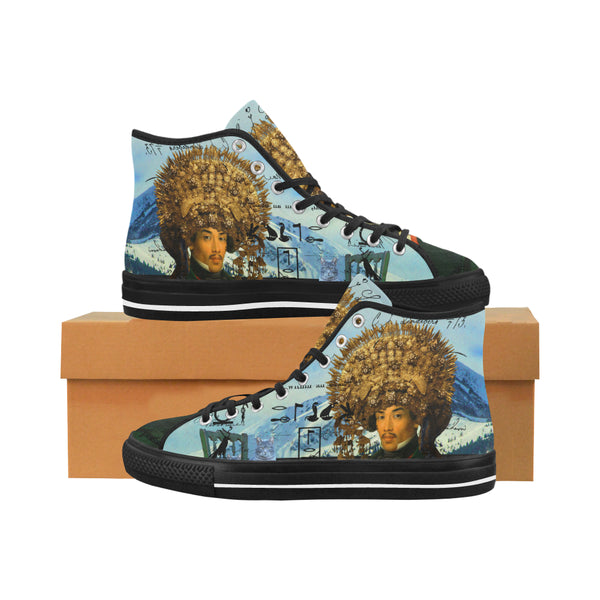 THE EMPEROR OF SNOWY MOUNTAIN III Men's All Over Print Canvas Sneakers