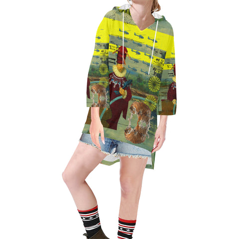 THE HELICOPTER REPAIRMAN Unisex Step Hem Tunic Hoodie