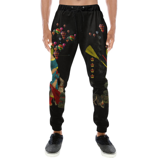 PASSING OUT THE BROOMS IV Men's All Over Print Sweatpants