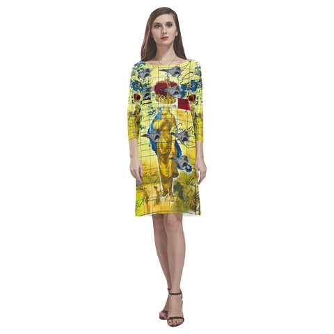 THE AIRSHOW Loose Round Neck Dress