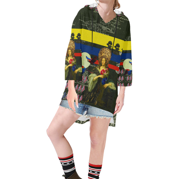 THE FLOWERS OF THE QUEEN Unisex Step Hem Tunic Hoodie
