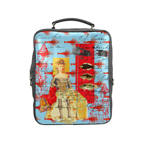 THE SHOWY PLANE HUNTER AND FISH IV Square Backpack
