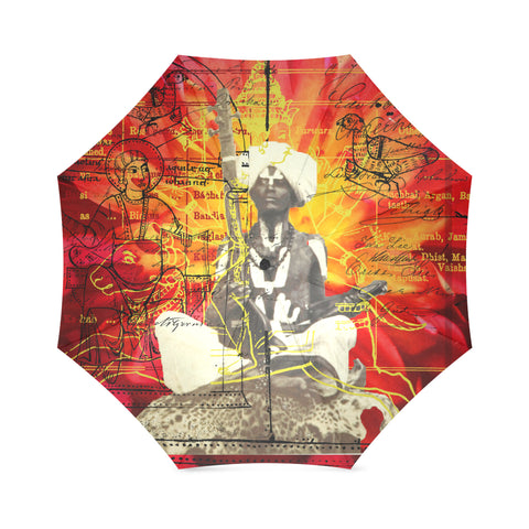 THE SITAR PLAYER Foldable Umbrella
