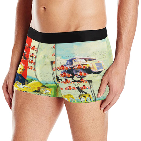 ACCORDING TO PLAN. Men's All Over Print Boxer Briefs