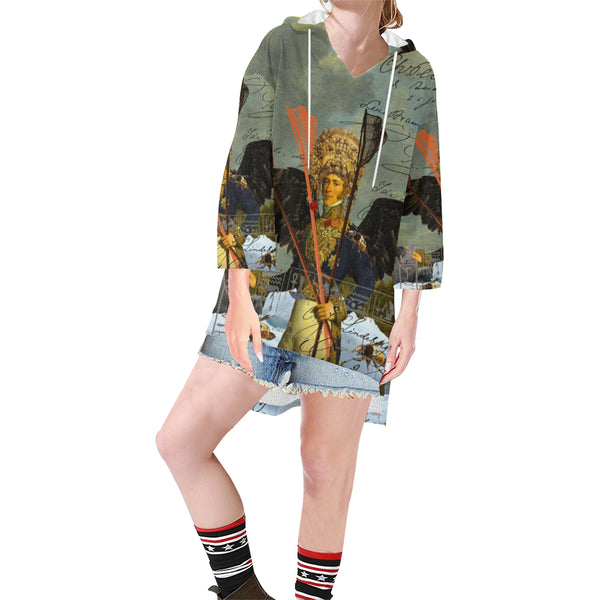 THE YOUNG KING ALT. 2 II Unisex Step Hem Tunic Hoodie