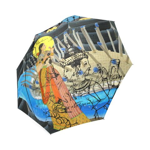 1, 2, 3 V Foldable Umbrella
