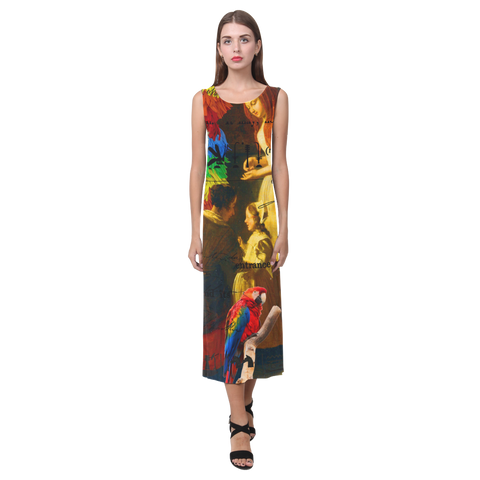 AND THIS, IS THE RAINBOW BRUSH CACTUS. II Sleeveless Dress