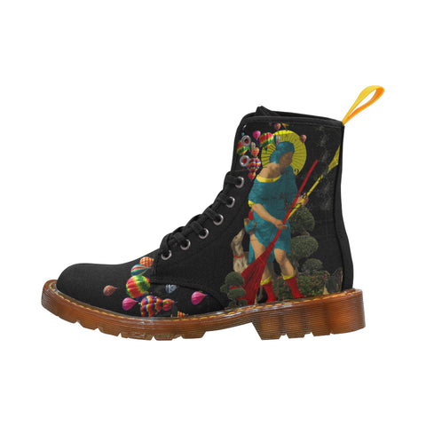 PASSING OUT THE BROOMS IV Women's All Over Print Fabric High Boots
