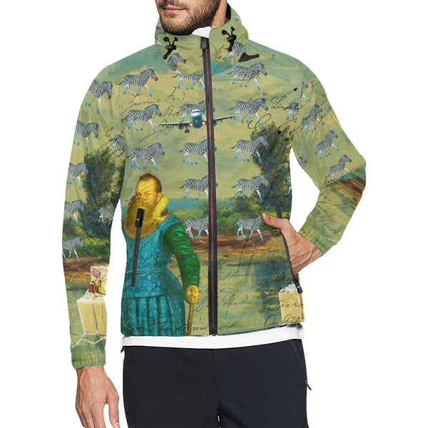 A PACKAGE FOR THE ZEBRAS All Over Print Windbreaker for Men