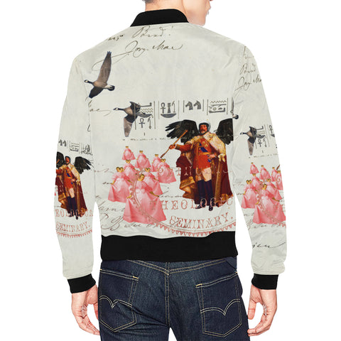 THE KING OF THE FIELD III All Over Print Bomber Jacket for Men