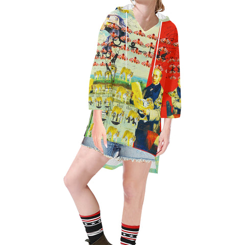 ACCORDING TO PLAN. Unisex Step Hem Tunic Hoodie