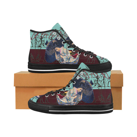 RAIN Men's All Over Print Canvas Sneakers