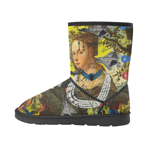 THE PLANE TECHNICIAN / UNPAINTER Unisex All Over Print Snow Boots