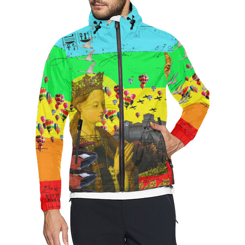 PRAYER All Over Print Windbreaker for Men