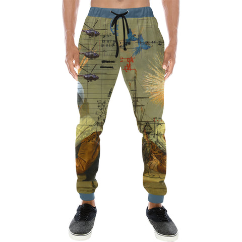 AT THE HARBOUR Men's All Over Print Sweatpants