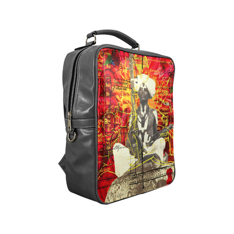 THE SITAR PLAYER Square Backpack
