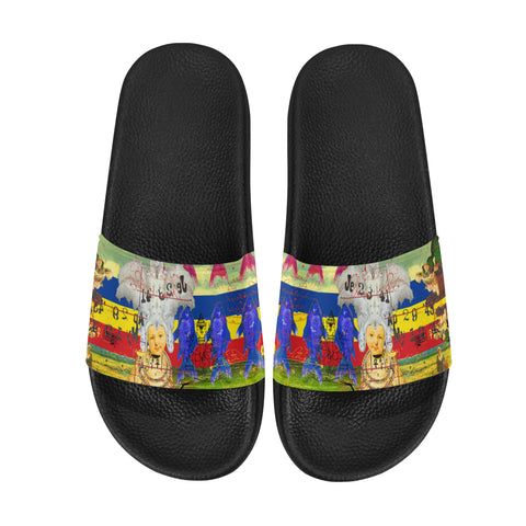 THE WHITE FEATHER HEADDRESS Women's Printed Slides