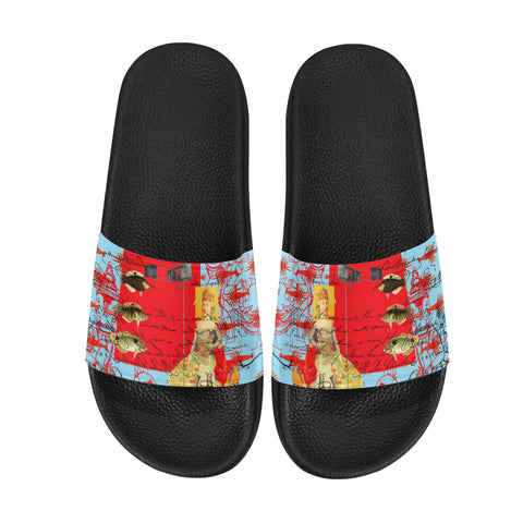 THE SHOWY PLANE HUNTER AND FISH IV Women's Printed Slides