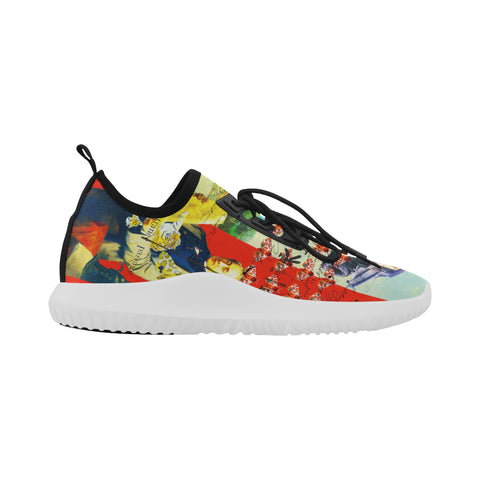 ACCORDING TO PLAN.  Ultra Light All Over Print Running Shoes for Women