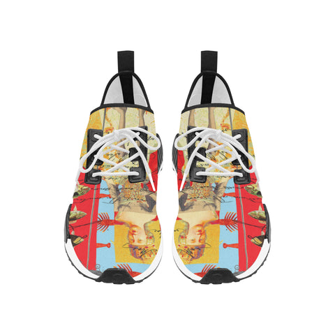 THE SHOWY PLANE HUNTER AND FISH IV Men's All Over Print Running Shoes