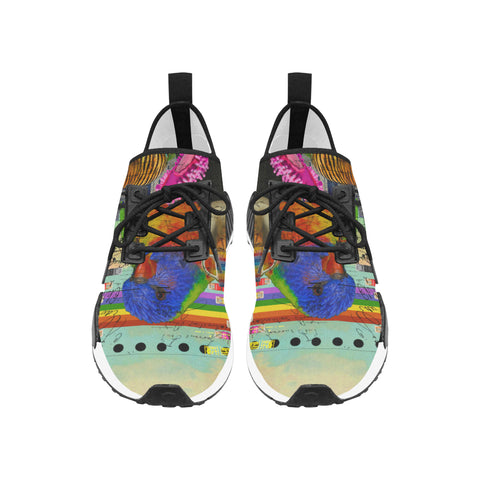 THE BIG PARROT Men's All Over Print Running Shoes