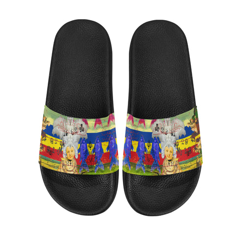 THE WHITE FEATHER HEADDRESS Men's Printed Slides