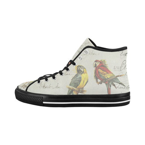 THE PARROT MAP II Women's All Over Print Canvas Sneakers
