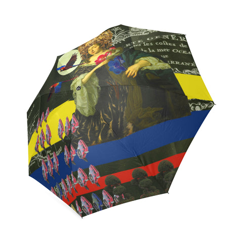 THE FLOWERS OF THE QUEEN Foldable Umbrella
