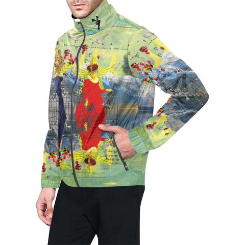 THE LAMPPOST INSTALLATION CREW VIII All Over Print Windbreaker for Men