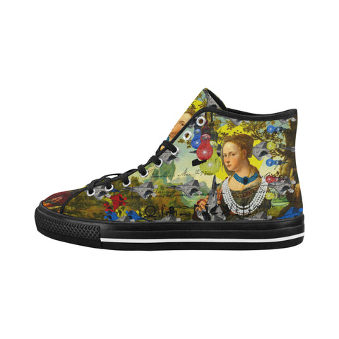 THE PLANE TECHNICIAN / UNPAINTER Women's All Over Print Canvas Sneakers