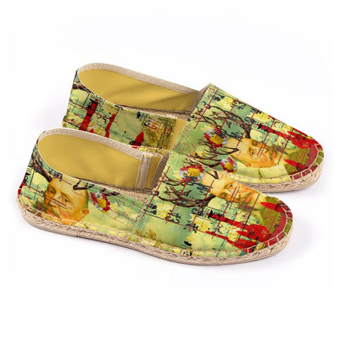 THE CATS' ROCKETS' GUARD Unisex All Over Print Espadrilles